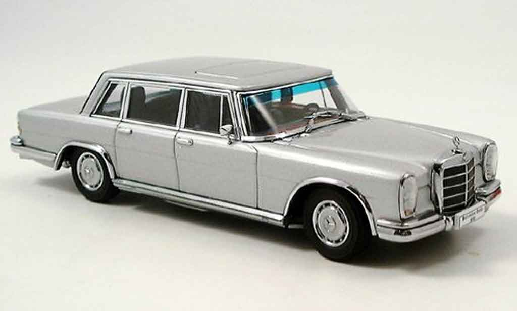 Mercedes 600 SWB 1/43 Autoart SWB (W100) grey metallisee diecast model cars