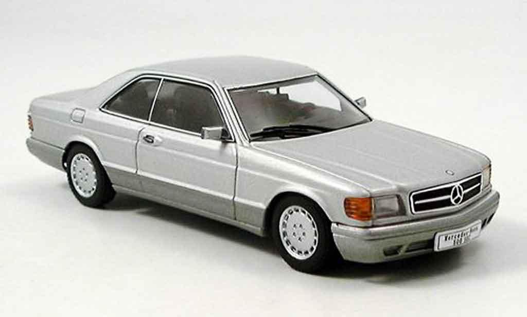 Mercedes 500 SEC 1/43 Autoart SEC SEC (W126) Coupe grise metallisee miniature