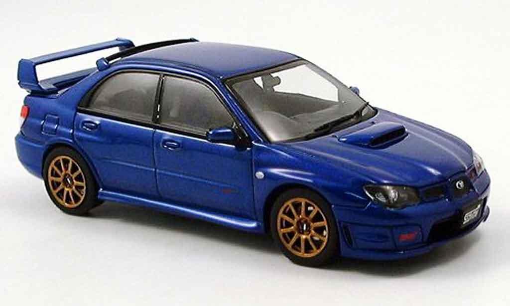 Subaru Impreza WRX 1/43 Autoart STI bleu 2006 miniature
