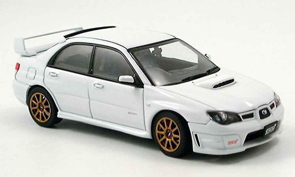 Subaru Impreza WRX 1/43 Autoart STI blanche 2006 miniature