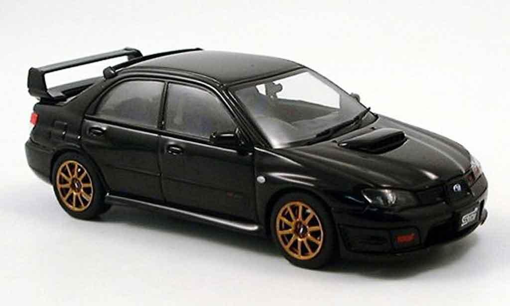 Subaru Impreza WRX 1/43 Autoart STI noire 2006 miniature