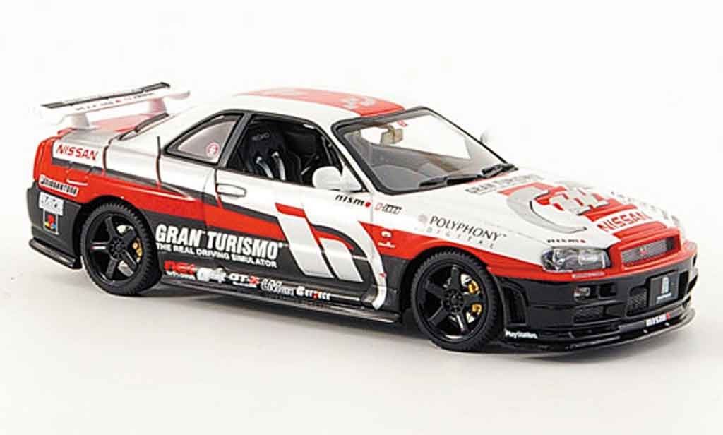 Nissan Skyline R34 1/43 Autoart Gran Turismo 2002 diecast model cars