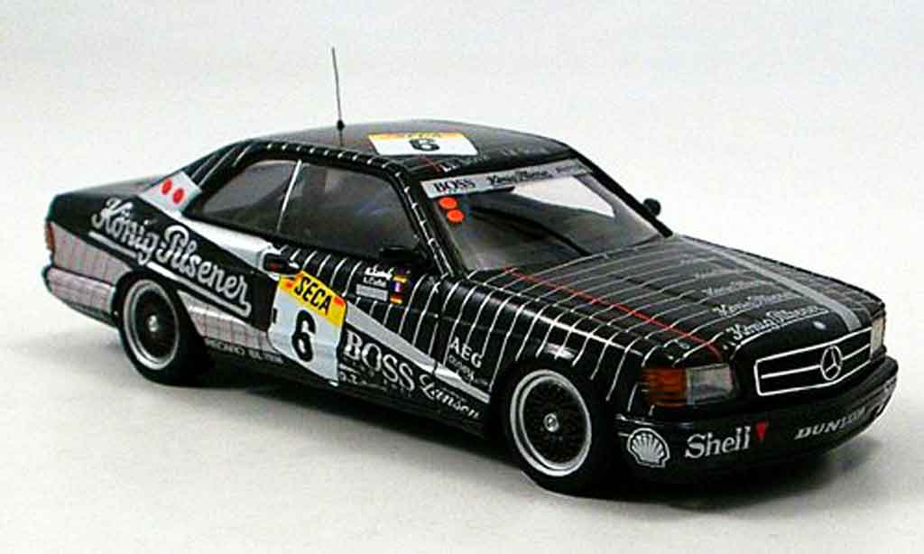 Mercedes 500 SEC 1/43 Autoart SEC SEC (W126) No.6 AMG 24h Spa 1989 miniature