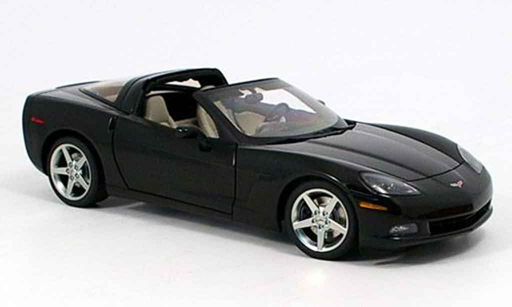 Chevrolet Corvette C6 1/18 Autoart coupe (c6) black 2005 diecast model cars