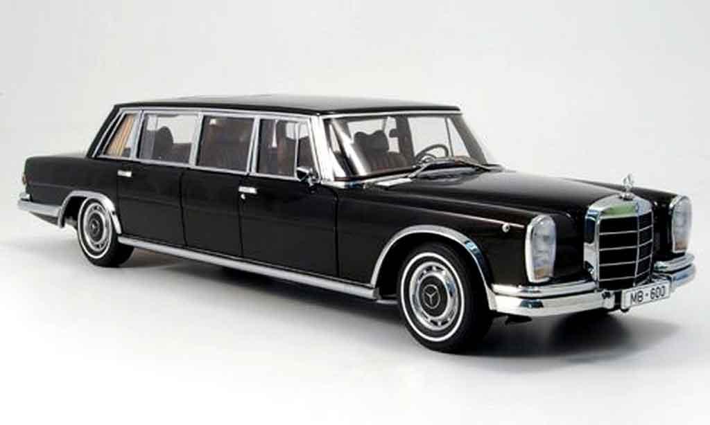 Mercedes 600 Pullmann 1/18 Autoart lwb gardinen in heckscheibe etc. miniature
