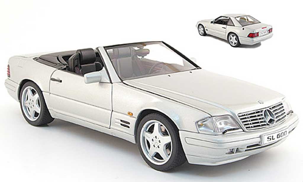 Mercedes Classe SL 600 1/18 Kyosho 600 (r 129) grise metallized 1997 miniature