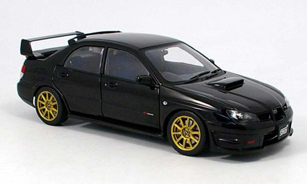 Subaru Impreza WRX 1/18 Autoart STI schwarz 2006 modellautos