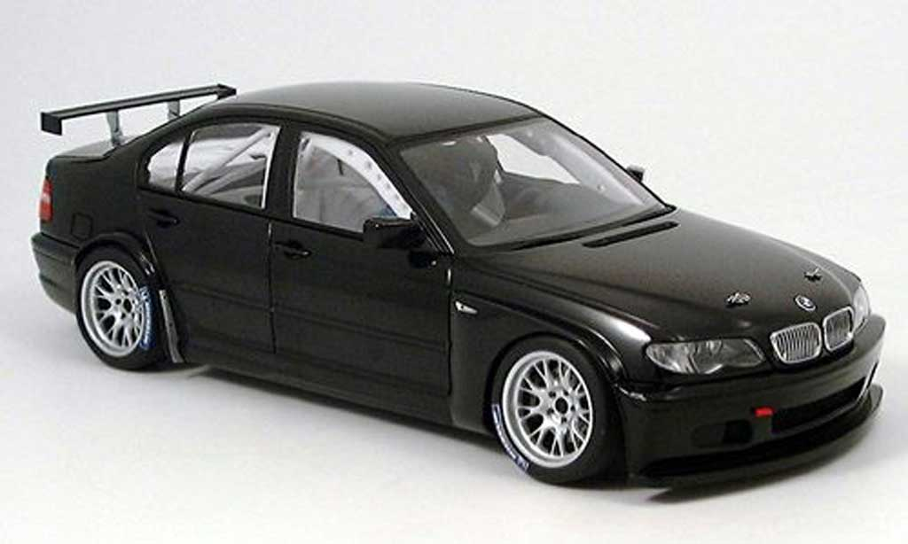 Bmw 320 E46 1/18 Autoart i black version 2005 WTCC plain body diecast
