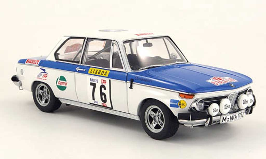 Bmw 2002 Tii 1/18 Autoart no.76 rallye portugal 1972 miniature