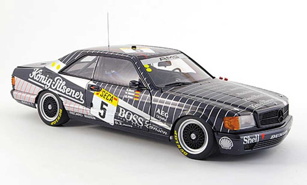 Mercedes 500 SEC 1/18 Autoart (w126) amg no.5 24h spa 1989 miniature