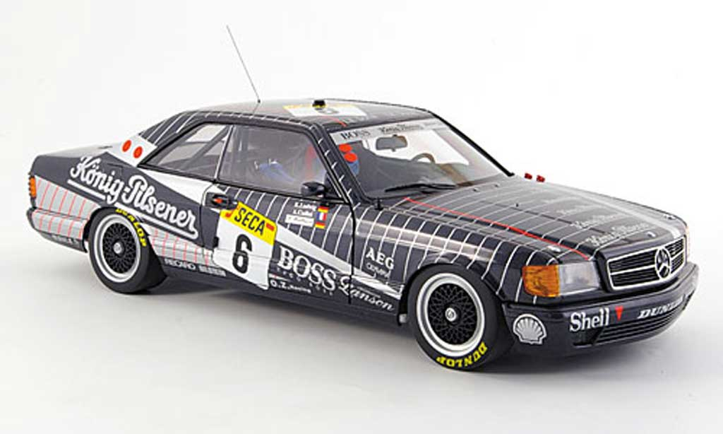 Mercedes 500 SEC 1/18 Autoart (w126) amg no.6 24h spa 1989 miniature