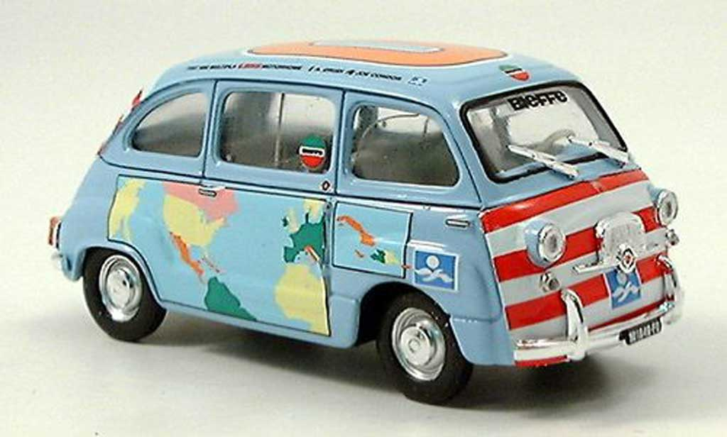 Fiat 600 1/43 Brumm D Multipla Graziano Rossi Motorhome 1960 miniature