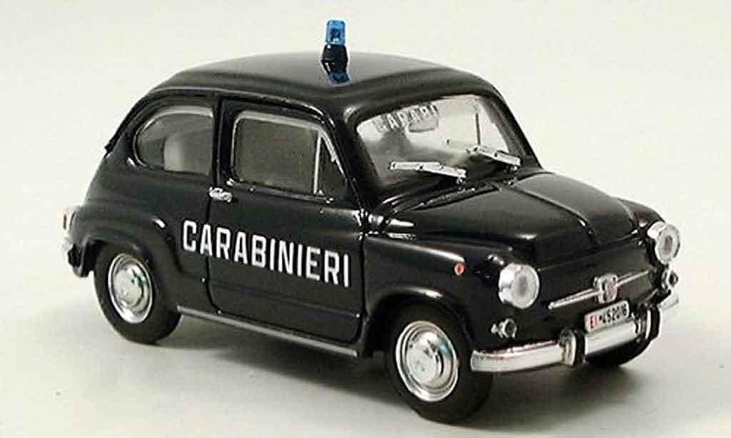 Fiat 600 1/43 Brumm D Mulitpla Carabinieri police miniature