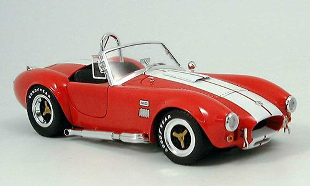 Shelby Ac Cobra 1/18 Shelby Collectibles 427 sc rouge blanche 1965 miniature