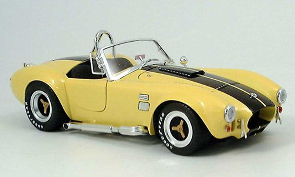 Shelby Ac Cobra 1/18 Shelby Collectibles 427 jaune noire miniature