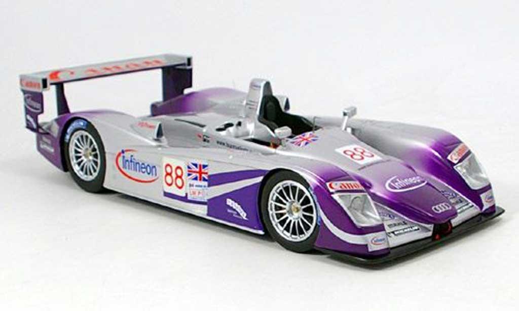 Audi R8 Le Mans 1/18 Spark 2004 miniature
