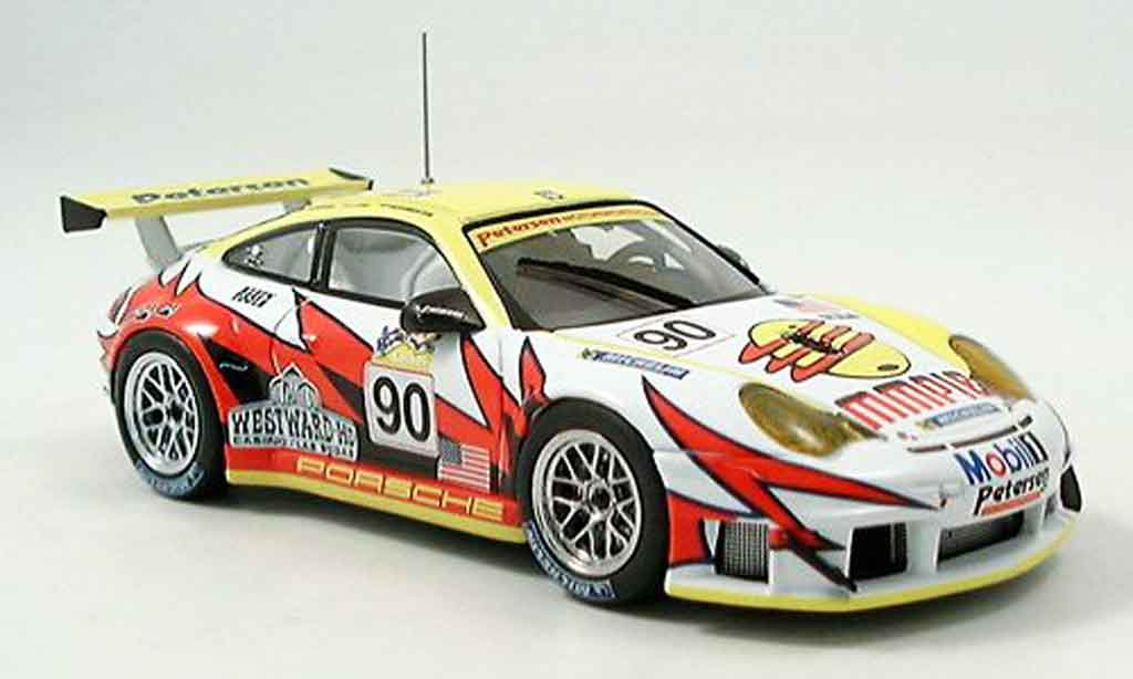 Porsche 996 GT3 RSR 1/43 Ebbro No.90 White Lightning Le Mans 2005 miniature