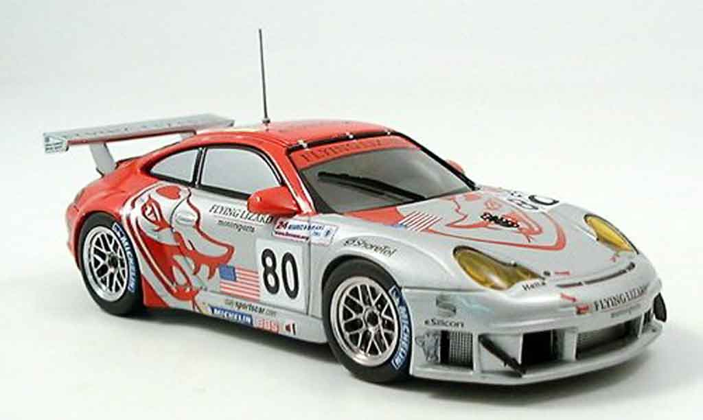 Porsche 996 GT3 RSR 1/43 Ebbro No.80 Flying Lizard Le Mans 2005 miniature