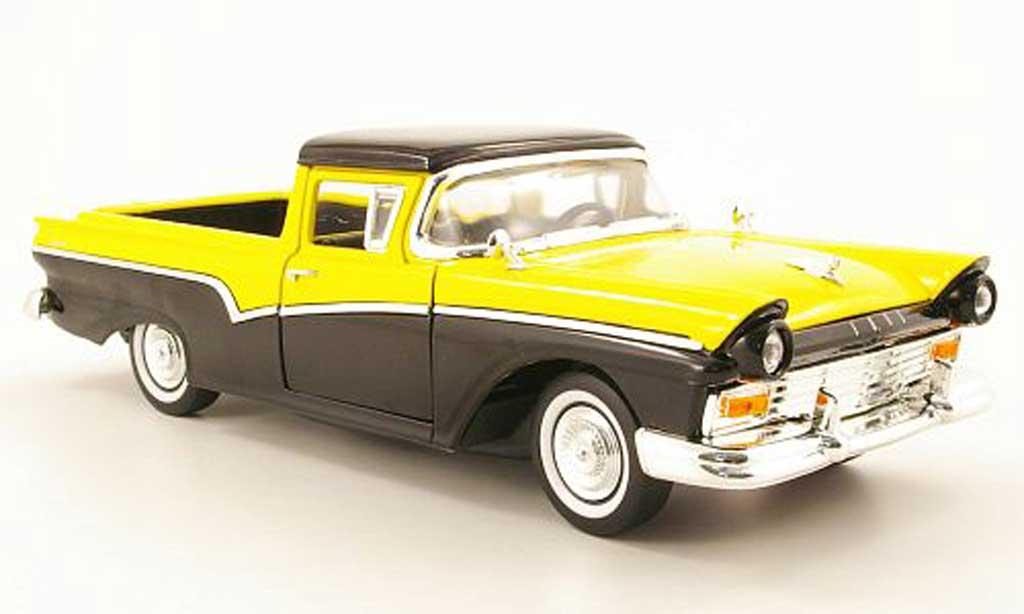 Ford Ranchero 1/18 Yat Ming noire/jaune 1957 miniature