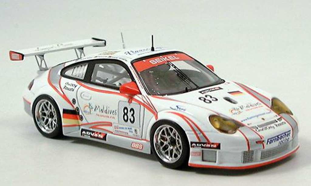 Porsche 996 GT3 RSR 1/43 Spark No.83 Seikel Motorsport 24h Le Mans 2006 miniature
