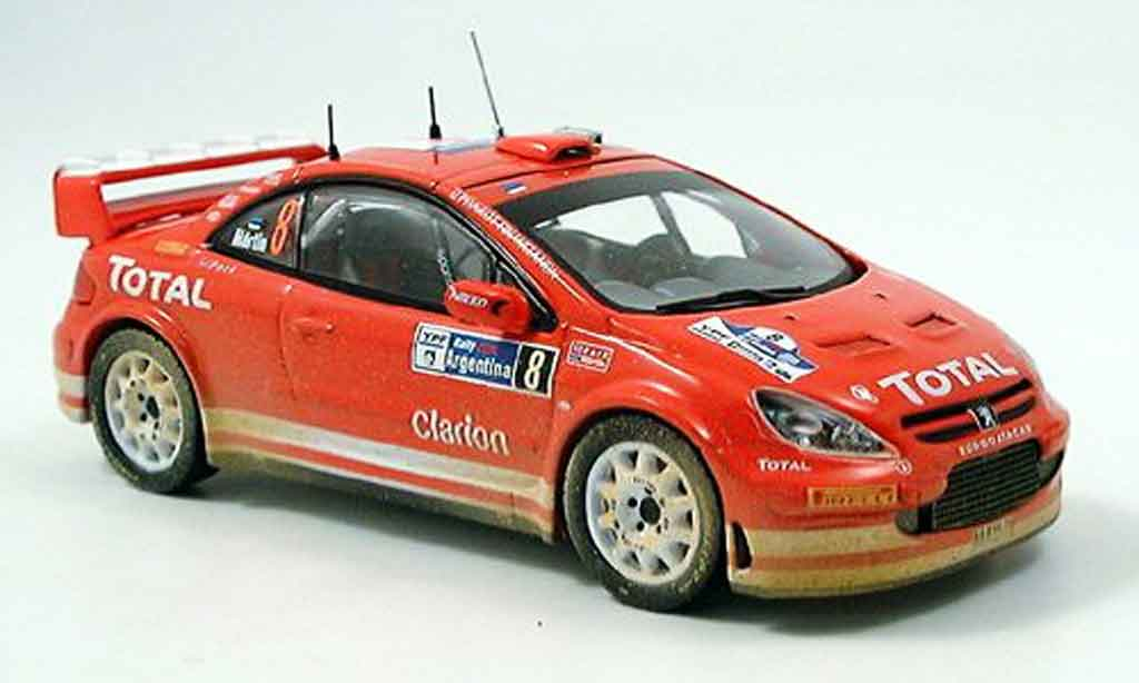 Peugeot 307 WRC 1/43 IXO no.8 rallye argentine 2005 miniature
