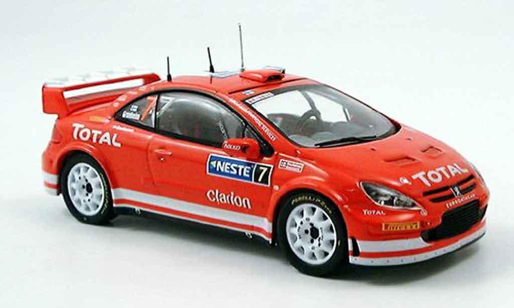 Peugeot 307 WRC 1/43 IXO no.7 gronholm sieger rallye finnland 2005 miniature