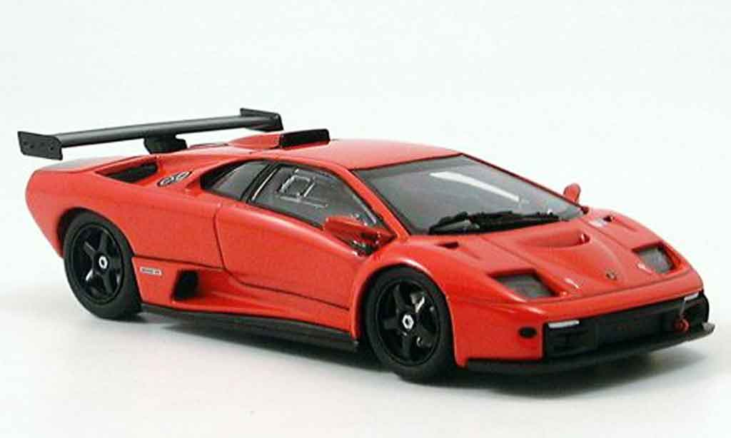 Lamborghini Diablo GTR 1/43 Kyosho red diecast model cars