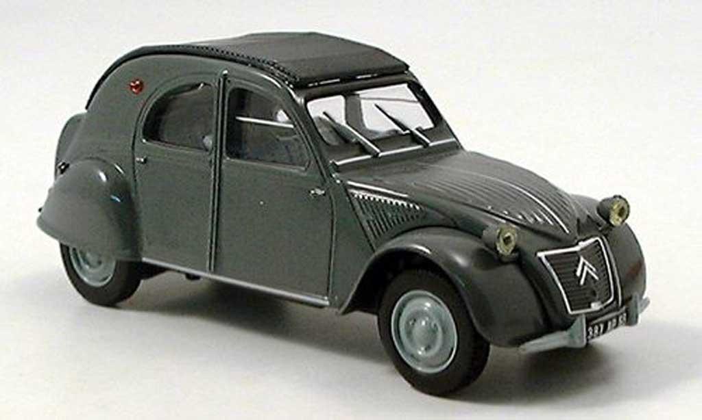 Citroen 2CV 1/43 Norev gris ferme toit rabattable modellino in miniatura