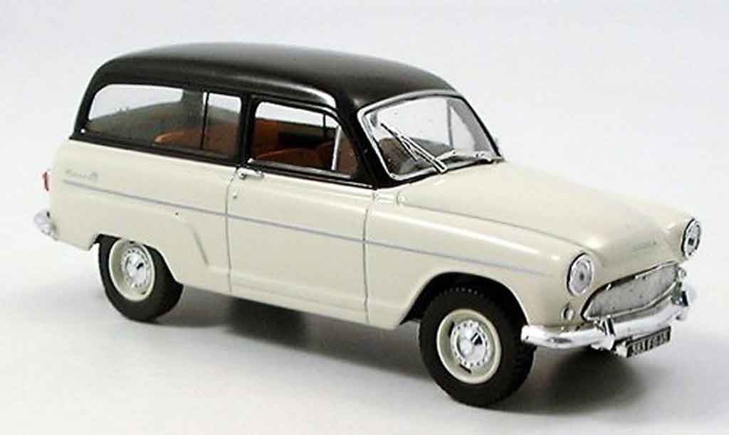 Simca P 60 1/43 Norev ranch beige black diecast