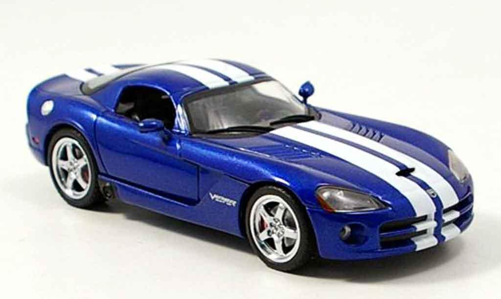 Dodge Viper GTS 1/43 Norev Coupe bleu blanche 2006 miniature