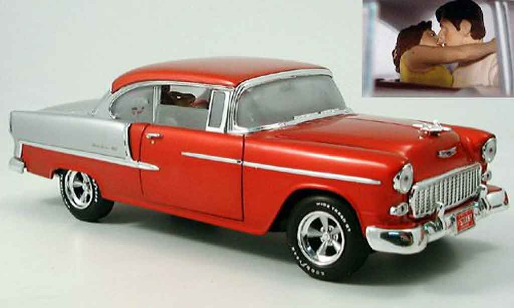 Chevrolet Bel Air 1955 1/18 Ertl rouge/grise miniature