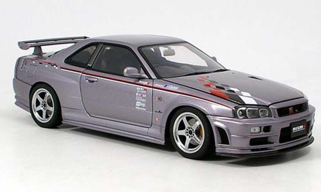 Nissan Skyline R34 1/18 Autoart nismo sport version miniature