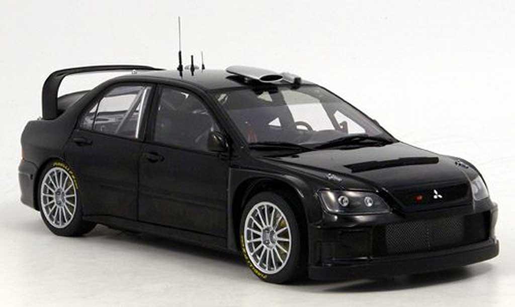 Mitsubishi Lancer Evolution IX 1/18 Autoart wrc noire plain body version 2005 miniature