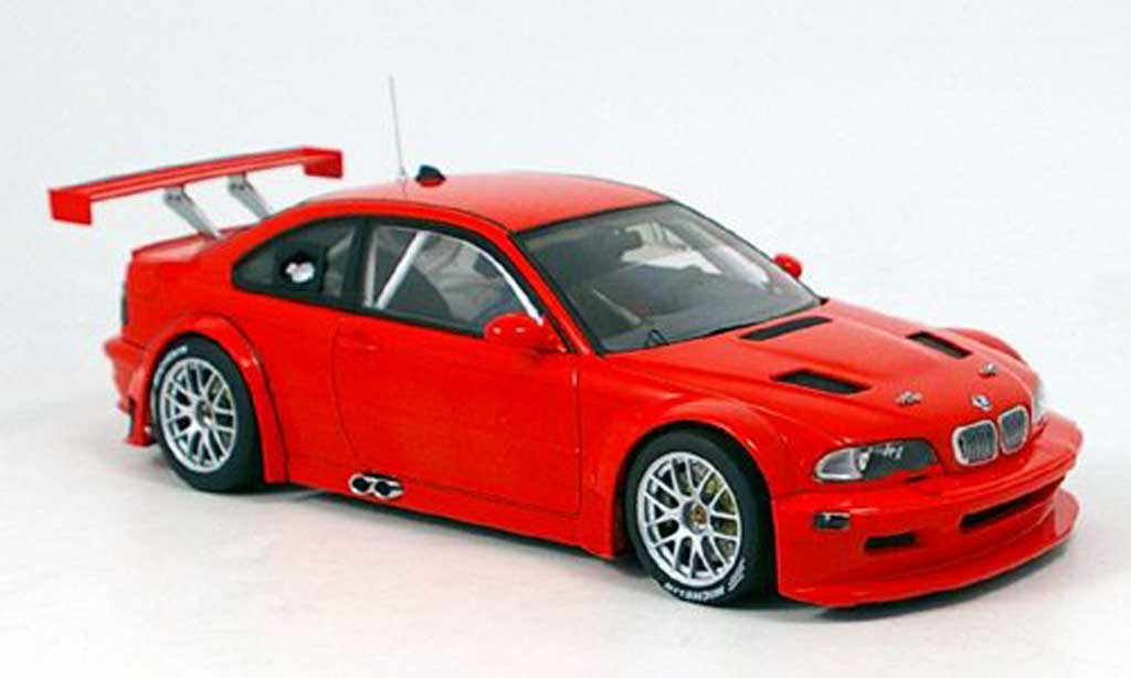 Bmw M3 E46 1/18 Autoart GTR plain body version red nurburgring 2005 diecast