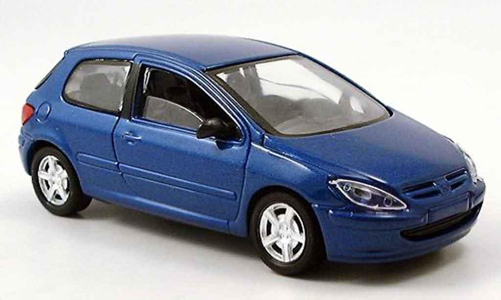 Peugeot 307 1/43 Solido 3 portes bleu miniature