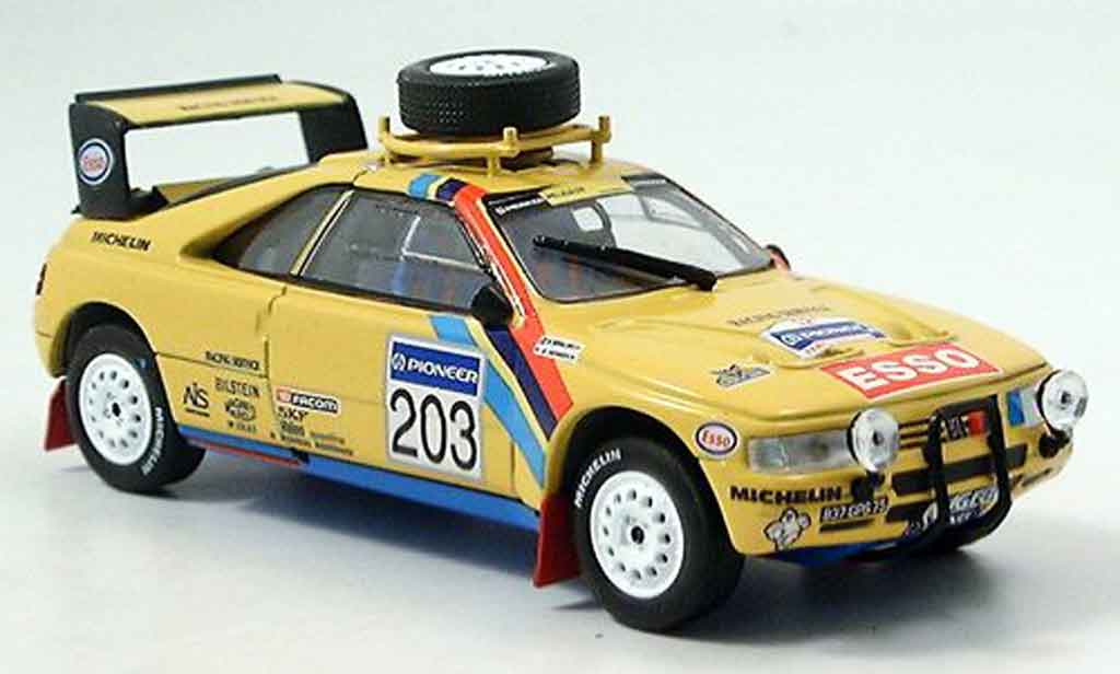 Peugeot 405 Turbo 16 1/43 Norev no.203 rallye paris dakar 1990 miniature