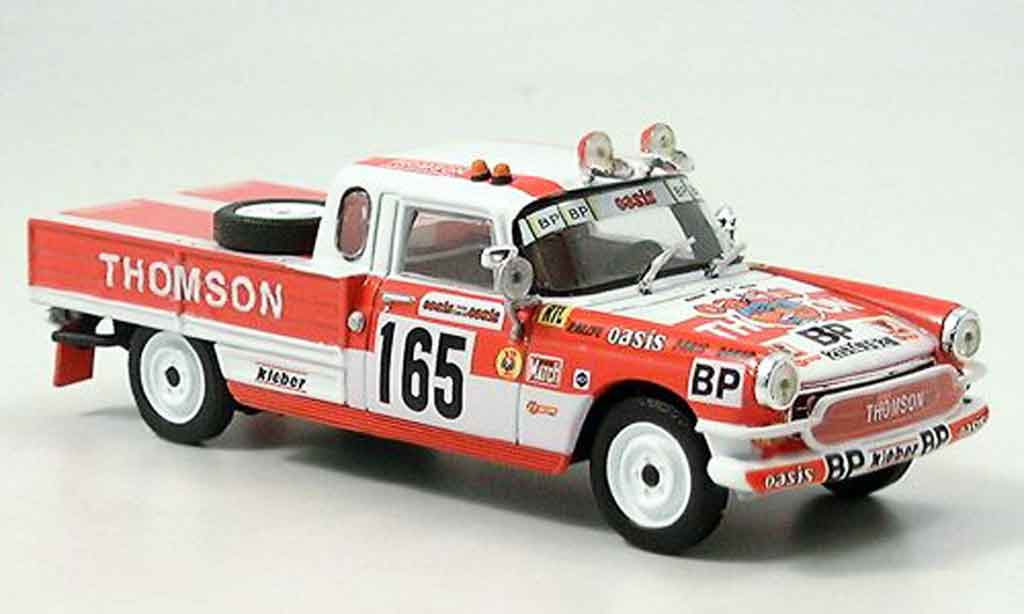 Peugeot 404 Pick up 1/43 Norev dakar 1979 miniature
