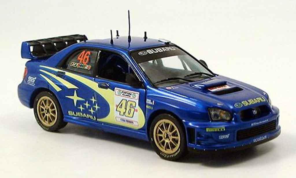 Subaru Impreza WRC 1/43 IXO valentino ross rallye monza 2005 miniature