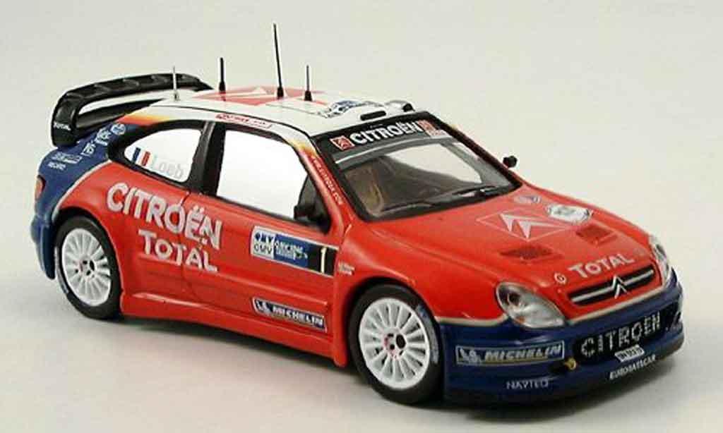 Citroen Xsara WRC 2005 1/43 IXO no.1 sieger deutschland rallye miniature
