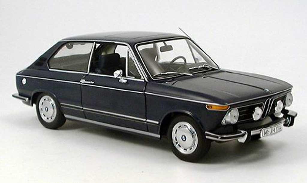 Bmw 1600 Touring 1/18 Minichamps bleu miniature