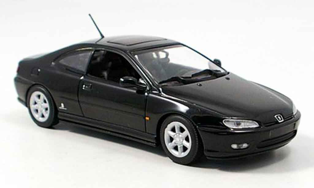 Peugeot 406 1/43 Minichamps coupe black 1997 diecast model cars