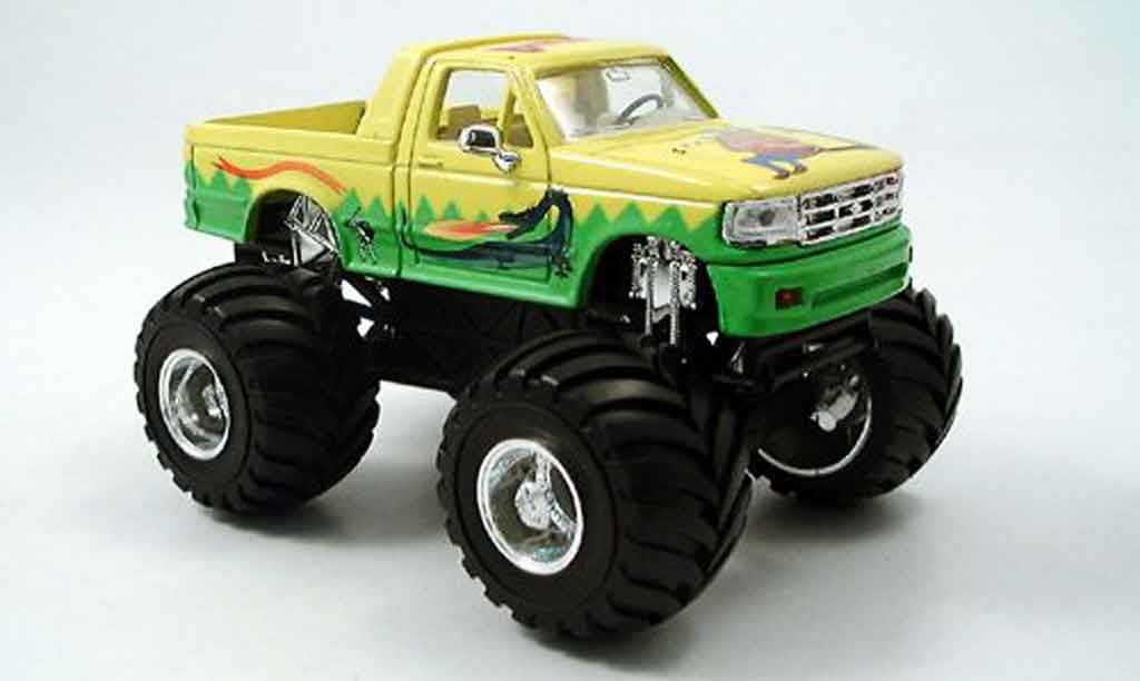 Ford F 150 1/43 Yat Ming Monster Truck jaune verte 1995 miniature
