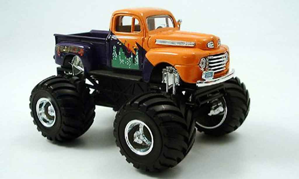 Ford F100 1/43 Yat Ming Monster Truck orange 1948 miniature