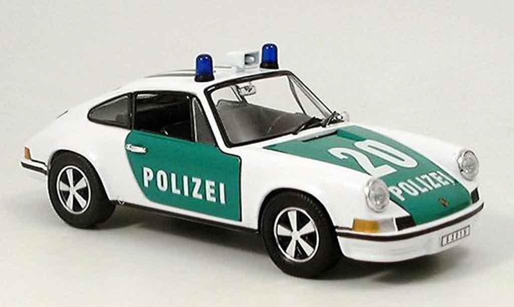 Porsche 911 2.4 1/18 Eagle l polizei deutschland miniature