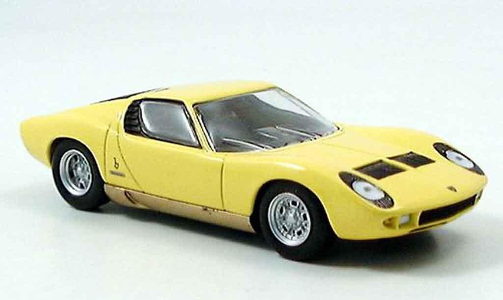 Lamborghini Miura 1/43 Del Prado jaune miniature