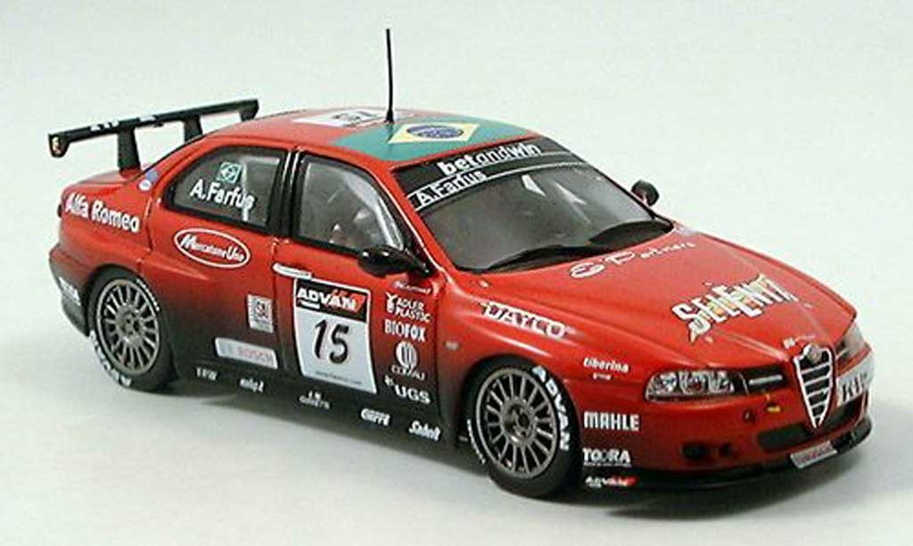 Alfa Romeo 156 GTA WTCC 1/43 Spark No. 15 Farfus 2006 diecast model cars
