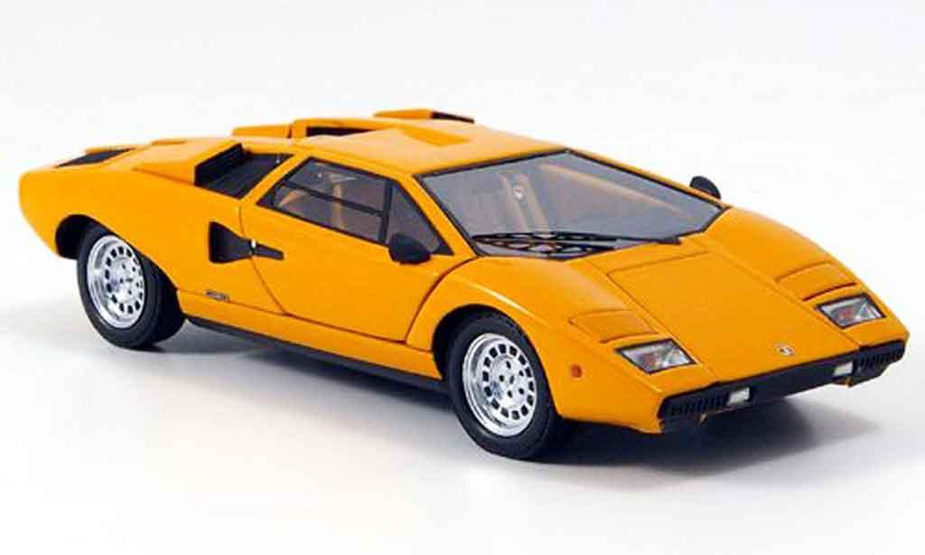 Lamborghini Countach LP 400 1/43 Kyosho orange miniature