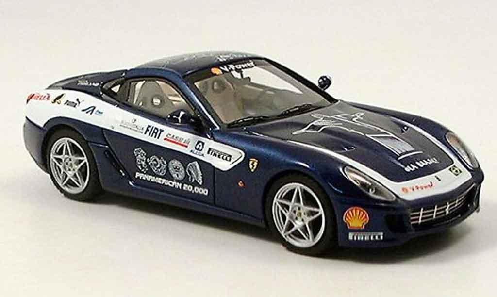 Ferrari 599 GTB 1/43 Look Smart fiorano panamericana bleu miniatura