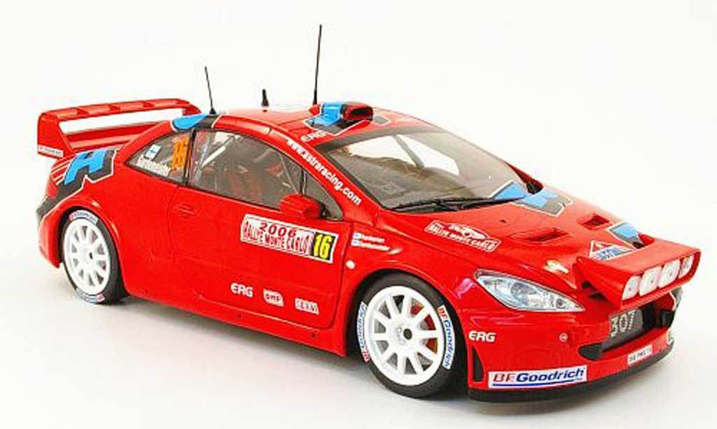 Peugeot 307 WRC 1/18 Sun Star no.16 astra racing rallye monte carlo 2006 diecast model cars