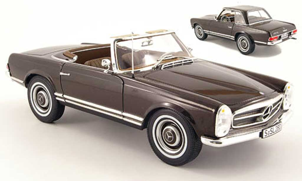 Mercedes 230 1/18 Norev sl (w 113) marron miniature
